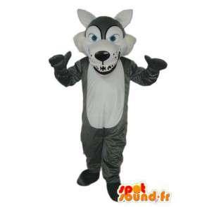 Mascotte de chien en peluche – déguisement de chien gris peluche - MASFR003781 - Mascottes de chien