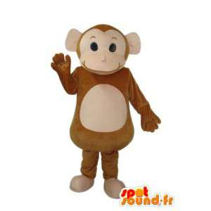 Brown monkey costume - Monkey mascot - MASFR003797 - Mascots monkey