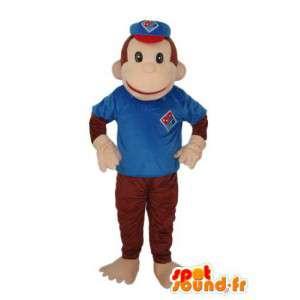 Monkey Costume brązowy niebieski płaszcz - maskotka małpa - MASFR003798 - Monkey Maskotki
