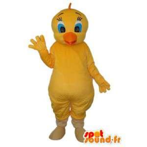 Gul kyckling för maskot, orange näbb - Kycklingdräkt -