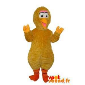 マスコット黄色いひよこ、黄色いくちばし-ひよこコスチューム-MASFR003806-鶏マスコット-オンドリ-鶏