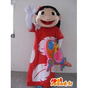 Mascot princesa havaiana - Disguise floresceu por praia - MASFR00295 - plantas mascotes