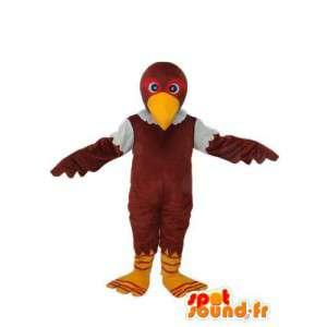 Chick becco mascotte marrone giallo - Chick Costume  - MASFR003811 - Mascotte di galline pollo gallo