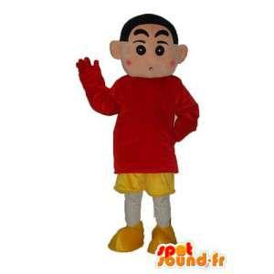 Mascot chico marrón de peluche - niño disfraz