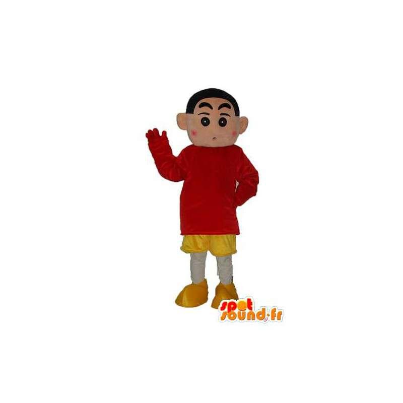 Boy mascot plush brown - guise of boy - MASFR003815 - Mascots boys and girls