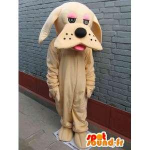 Mascotte chien beige classique - Déguisement - Envoi express