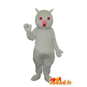 Weiß Schwein Maskottchen - Kostüm weißes Schwein - MASFR003821 - Maskottchen Schwein
