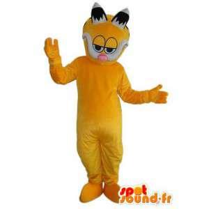 Gele kat mascotte om slapende knoppen - Disguise