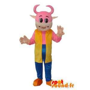 ピンクの子牛の雄牛の衣装-ピンクの子牛の衣装-MASFR003841-雄牛のマスコット