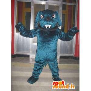 Mascotte chien bulldog - Chien boule dog avec collier et chaine