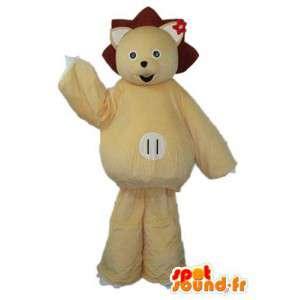 Beige bear costumes - Polar bear costume - MASFR003858 - Bear mascot