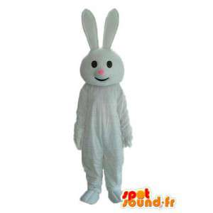 Puku edustaa valkoinen kani vaaleanpunainen kuono - MASFR003867 - maskotti kanit
