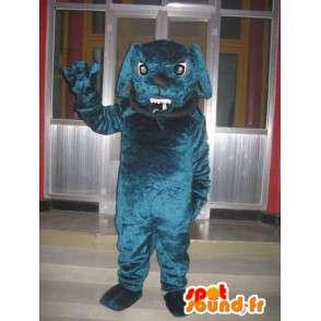 Koira maskotti bulldoggi - Koiran kanssa pallo ja ketju kaulakoru - MASFR00301 - koira Maskotteja