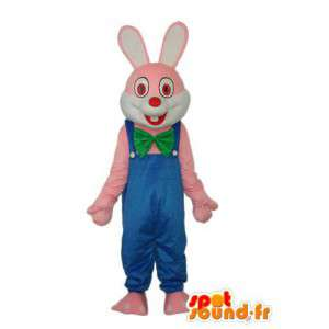 Representing a blue bunny costume wearing - Vest red - MASFR003877 - Rabbit mascot