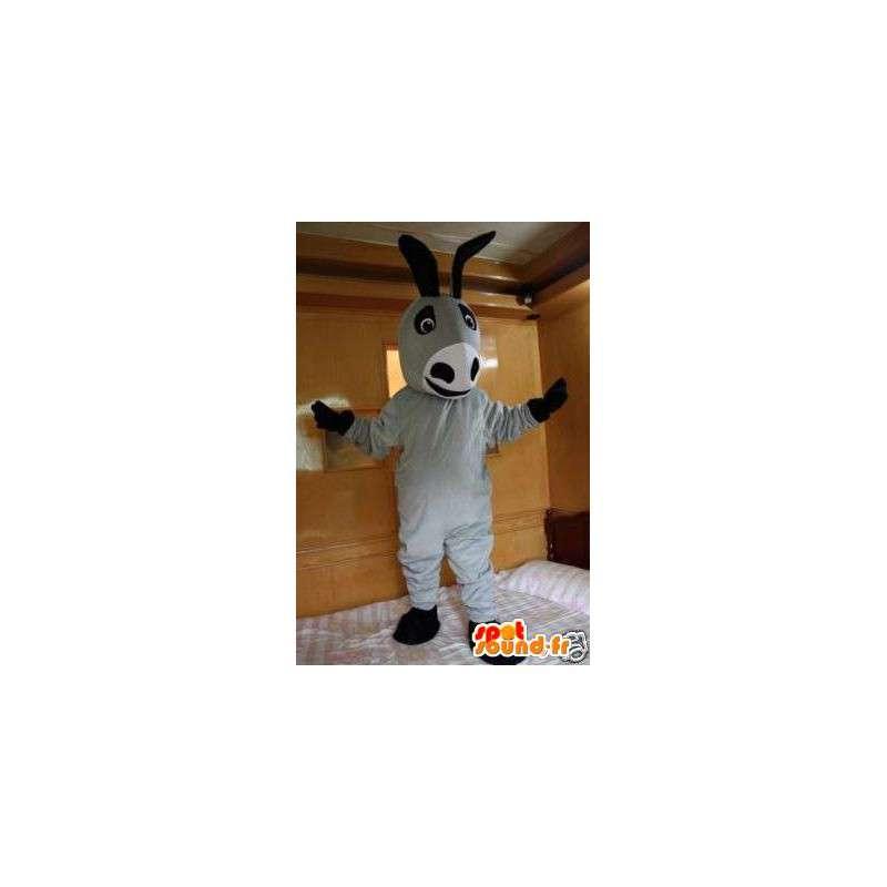 Osel maskota šedé a klasické černé - An zvíře kostým osel - MASFR00299 - hospodářská zvířata