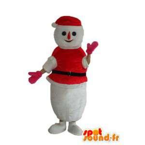 Kostüm die einen Schneemann Schnee in Pullover und rote Kappe - MASFR003892 - Menschliche Maskottchen