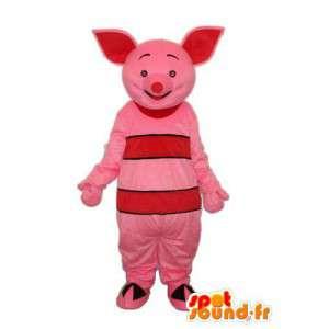 Traje porco cor de rosa com orelhas-de-rosa - MASFR003897 - mascotes porco