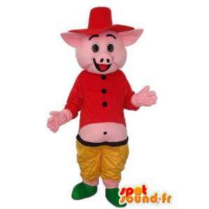 農民の豚のコスチューム-複数のサイズを偽装-MASFR003898-豚のマスコット