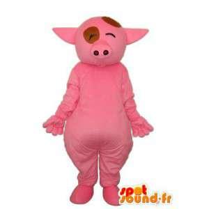 Rosa Schwein-Kostüm - Kostüm rosa Schwein - MASFR003900 - Maskottchen Schwein