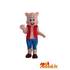 リラックスした豚のコスチューム-複数のサイズを偽装-MASFR003901-豚のマスコット