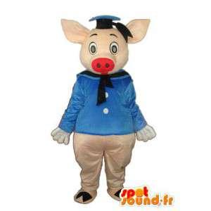 Maskotti edustaa sian pukeutunut merimies - MASFR003903 - sika Maskotteja