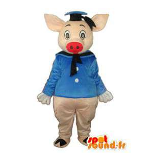 Schwein-Maskottchen die einen Matrosen-Outfit - MASFR003903 - Maskottchen Schwein