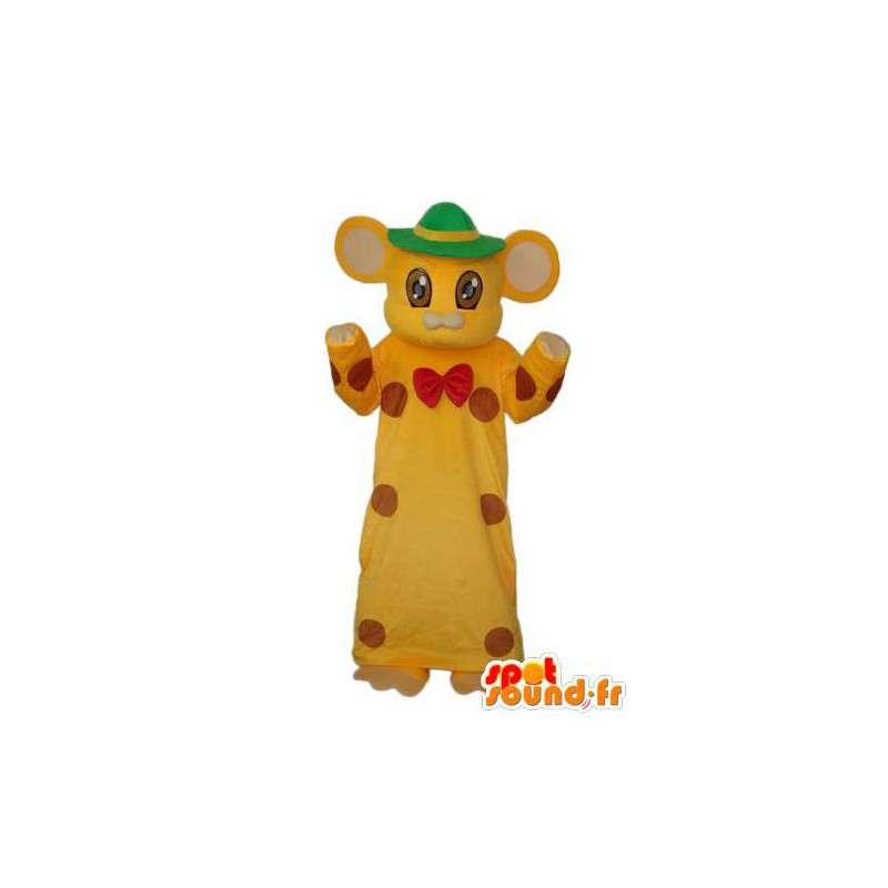 Cat suit in a yellow dress - Cat costume dress - MASFR003904 - Cat mascots