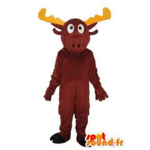 Costume representing a reindeer horn yellow - MASFR003911 - Mascots stag and DOE