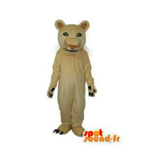 Brown lion mascot - Plush lion costume - MASFR003916 - Lion mascots