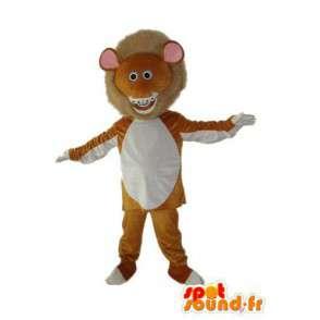 Small brown lion mascot white - Lion disguise  - MASFR003917 - Lion mascots
