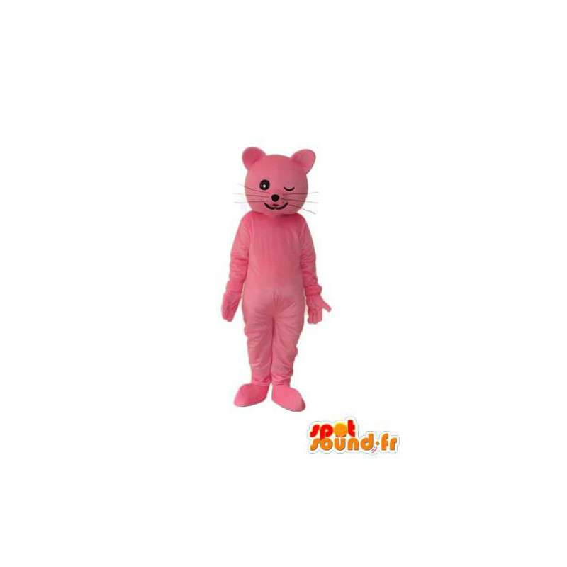 Mascotte de chat rose – Déguisement de chat rose en peluche - MASFR003920 - Mascottes de chat