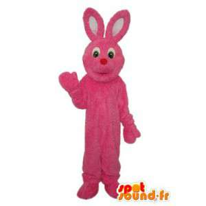 Pink bunny mascot - Plush bunny costume