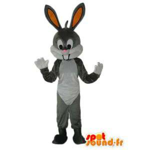 Mascot rabbit gray and white - Plush bunny costume - MASFR003922 - Rabbit mascot
