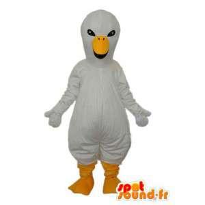 Mascot canário branco - canário Disguise recheado