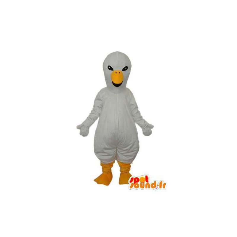 Mascotte canari blanc – Déguisement canari en peluche - MASFR003928 - Mascotte de canards