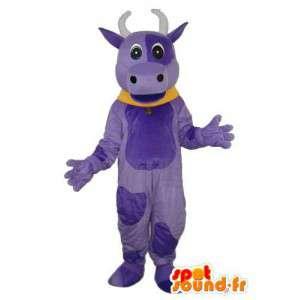 Mascotte de bœuf peluche bleue – déguisement de bœuf en peluche