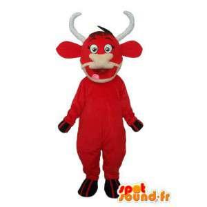 Mascot rundvlees in rode pluche - red bull kostuum