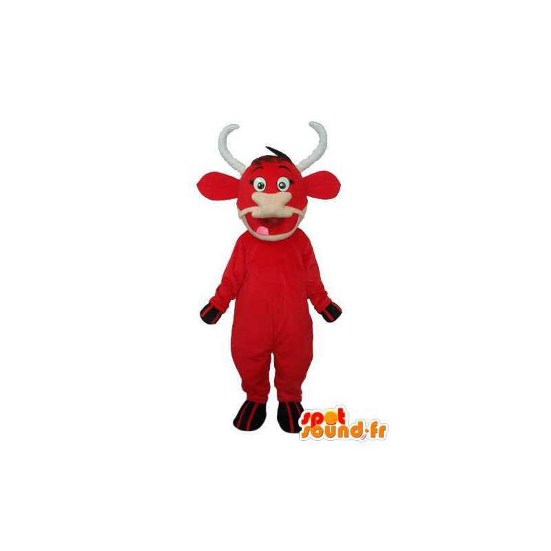 Mascot beef stuffed red - disguise beef red - MASFR003933 - Mascot cow