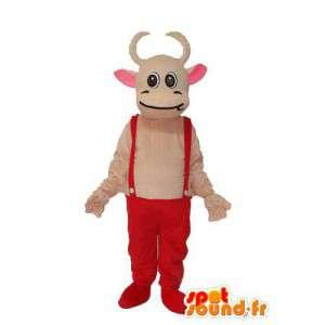 Mascotte bœuf marron clair – costume de déguisement bœuf