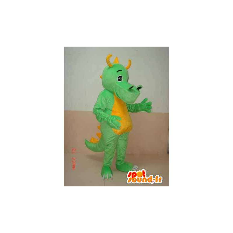 Triceratops Dinosaur mascot green yellow horns - Costume dino - MASFR00304 - Mascots dinosaur : triceratops dinosaur costume  - Germanpascual.Com