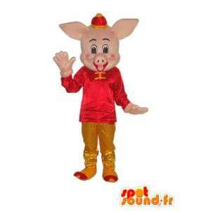 Chinesische Kleidung Maskottchen Schwein - Schwein Kostüm - MASFR003938 - Maskottchen Schwein