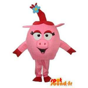 Mascot Plüsch rosa Schwein - Schwein Plüsch Kostüm - MASFR003939 - Maskottchen Schwein