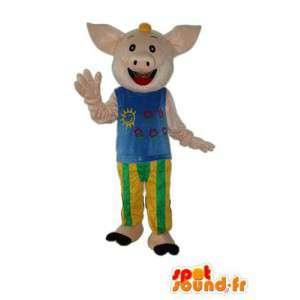 Beige Plüsch-Maskottchen Schwein - Schwein Plüsch Kostüm - MASFR003940 - Maskottchen Schwein