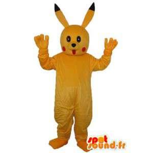 Mascot plush rabbit - yellow rabbit costume - MASFR003951 - Rabbit mascot