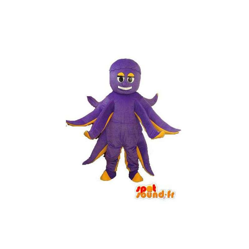Mascotte de poulpe en peluche violet jaune – Déguisement poulpe - MASFR003955 - Mascottes de l'océan