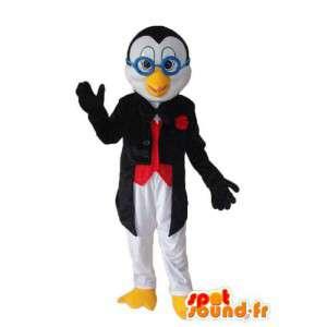 青いメガネのひよこマスコット-キャラクターコスチューム-MASFR003956-チキンマスコット-オンドリ-チキン