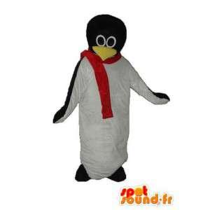 Mascotte de pingouin blanc et noir – Déguisement de pingouin