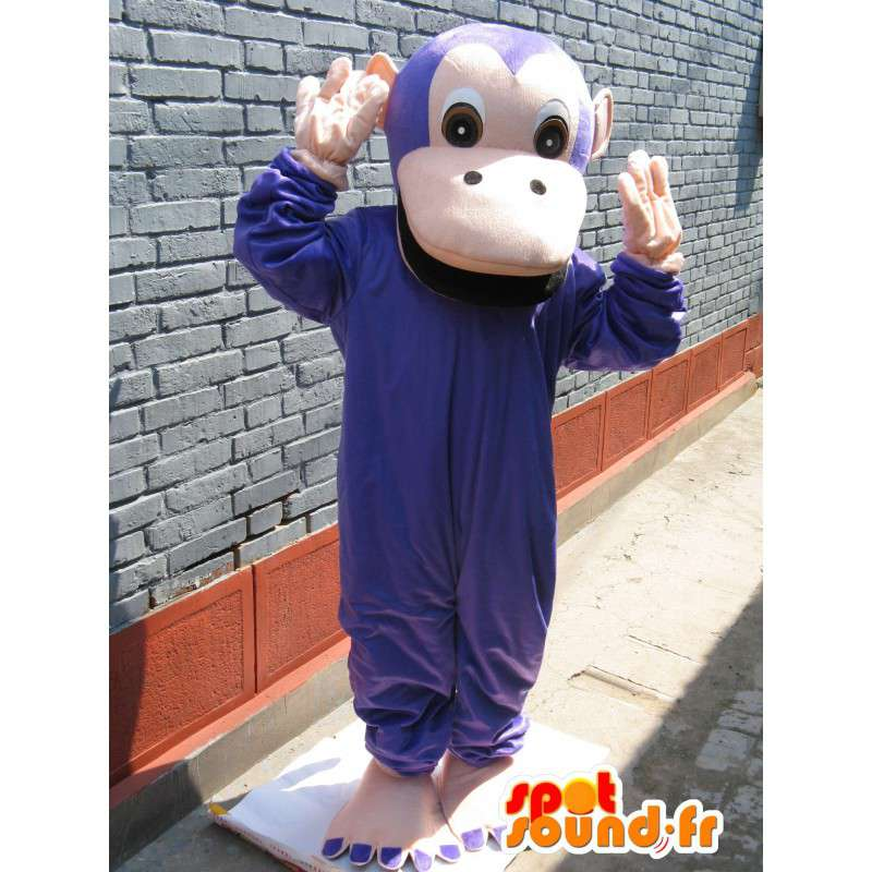 Maskot klasické purpurové opice - opice jungle zvířecí kostým - MASFR00305 - Monkey Maskoti