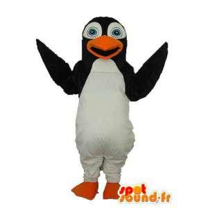 Pinguin-Maskottchen schwarz und weiß - Pinguin-Kostüm