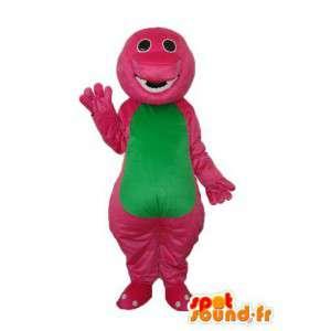 Krokotiili maskotti vihreä vaaleanpunainen pehmolelu - krokotiili puku